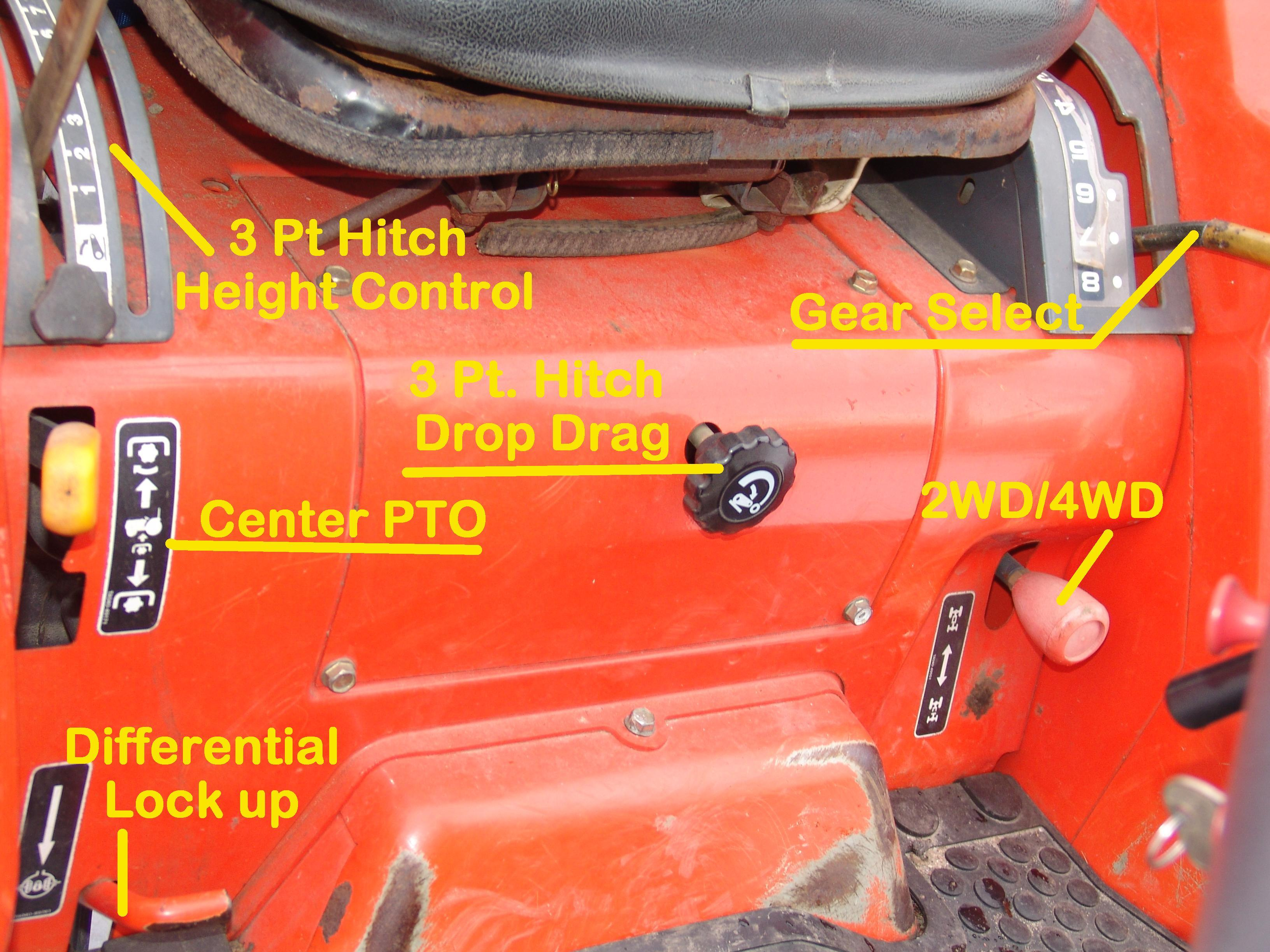 Ford 8n Position Control Lever : Pt lift what is other knob and where float